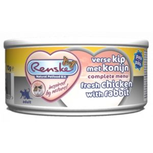 Renske Cat - mokra karma dla kota - kurczak i królik, 70g