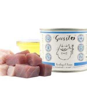Gussto - świeży indyk plus tuńczyk - 200g