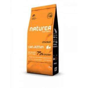 Naturea - kurczak - bezzbożowa karma dla kotów i kociąt - 2 kg